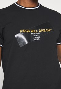 Kings Will Dream - CANEYTEE - Print T-shirt - black/gold - 5