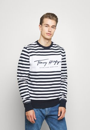 COOL SIGNATURE - Sweater - dark blue/white
