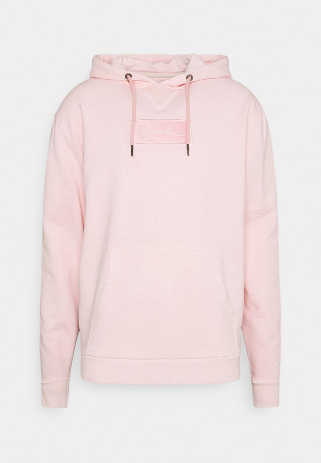 UNISEX SMALL SIGNATURE BOX WASHED HOODIE - Sweatshirt - rose