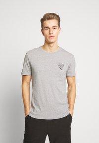 Pier One - T-shirt print - mottled grey - 0