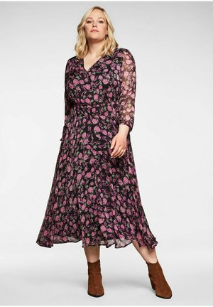 Maxi dress - schwarz bedruckt