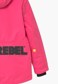 SuperRebel - SUSTAINABLE PLAIN UNISEX - Snowboardová bunda - fluo pink - 3