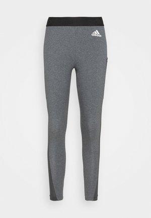 Tights - dark grey heather/white