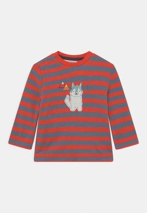ELAN BABY - Long sleeved top - stone blue/red