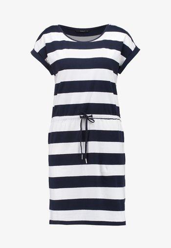 ONLAMBER FOLD UP DRESS - Jersey dress - cloud dancer/night sky