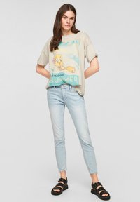 QS by s.Oliver - LOONEY TUNES - Print T-shirt - beige - 1
