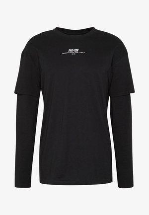 REVOLVE TEE - Bluzka z długim rękawem - black
