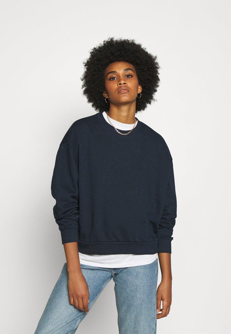 Weekday - HUGE CROPPED - Sweatshirt - navy