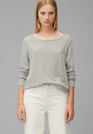 Long sleeved top - stone melange