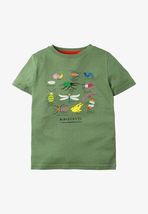 Print T-shirt - rosmaringrün, käfer