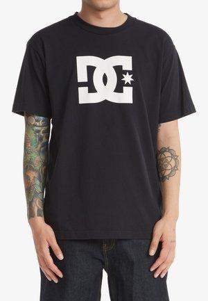 STAR  - T-shirt print - black