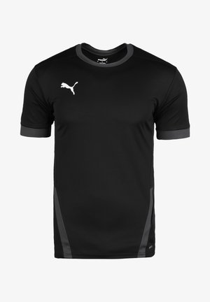TEAMGOAL - Camiseta estampada - black / asphalt