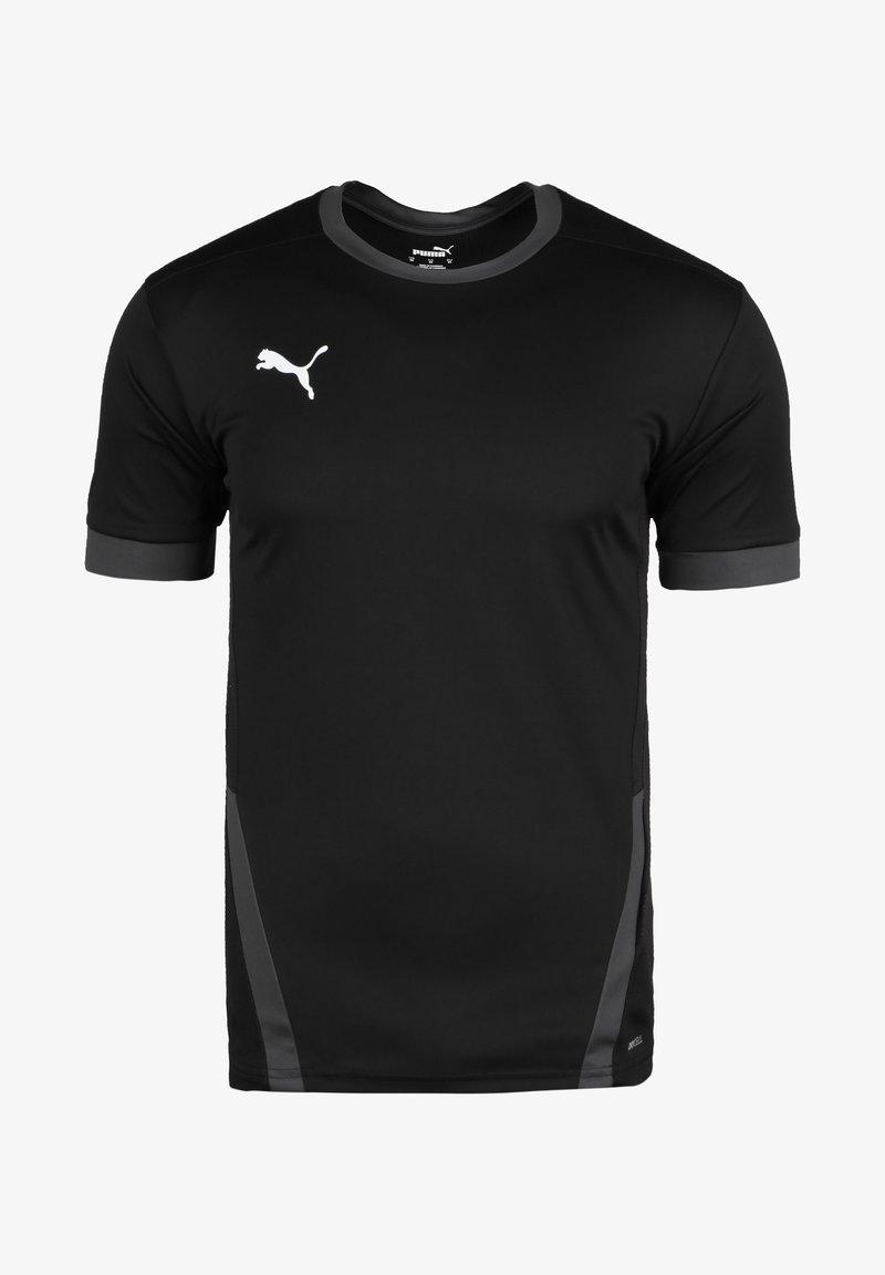 Puma - TEAMGOAL - T-shirt sportiva - black / asphalt