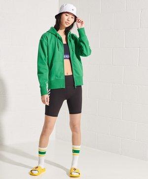 Zip-up hoodie - galvinised green
