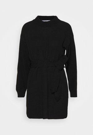 TIE WAIST JUMPER DRESS - Jumper dress - black