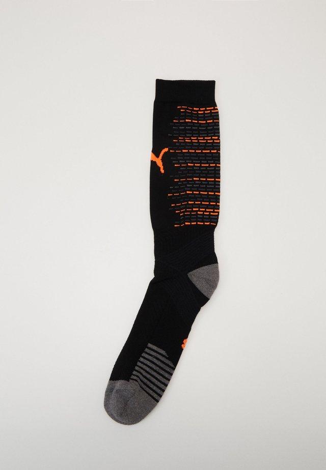 TEAM SOCKS - Knee high socks - black/shocking orange