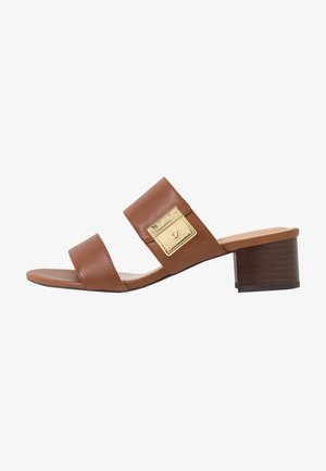 WINDHAM - Mules - deep saddle tan