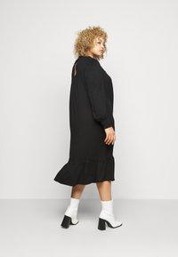 Dorothy Perkins Curve - SHIRRED YOKE DRESS - Robe en jersey - black - 2