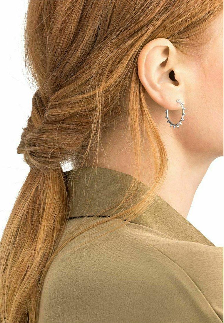 NOELANI - CREOLEN - Earrings - silber