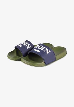 Pool slides - marine/olive/weiss