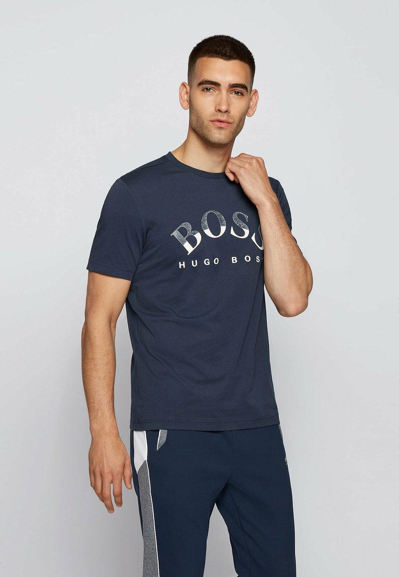 BOSS - Print T-shirt - dark blue