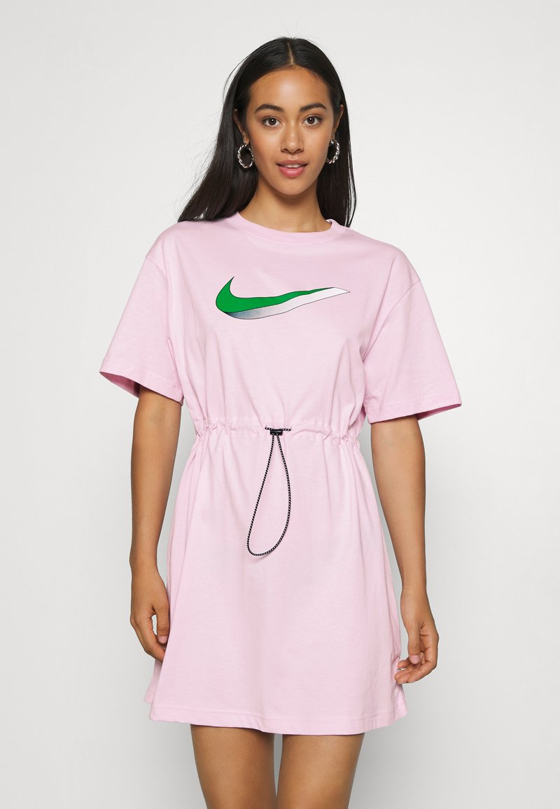 Nike Sportswear - DRESS - Žerzejové šaty - pink foam