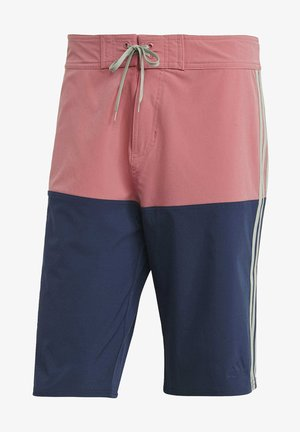 Knee-Length Colorblock Board Shorts - Bañador - pink