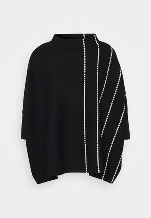 JELVO STRIPE - Jumper - black