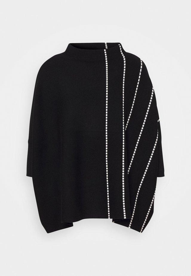 JELVO STRIPE - Sweter - black