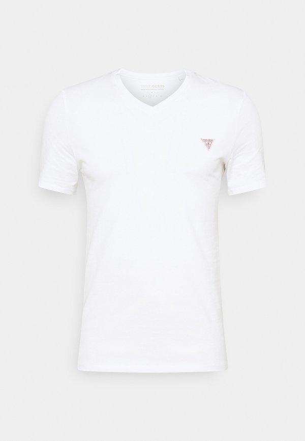 Guess TEE - T-shirt basic - true white/biały Odzież Męska BVKZ