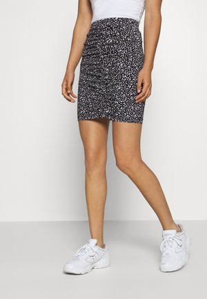 MINI RUSHING SKIRT  - Falda larga - white/black
