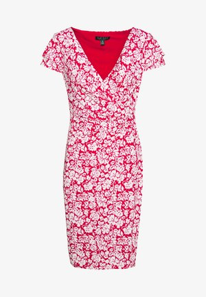 PICA SHORT SLEEVE DAY DRESS - Žerzejové šaty - berry sorbet/col cream