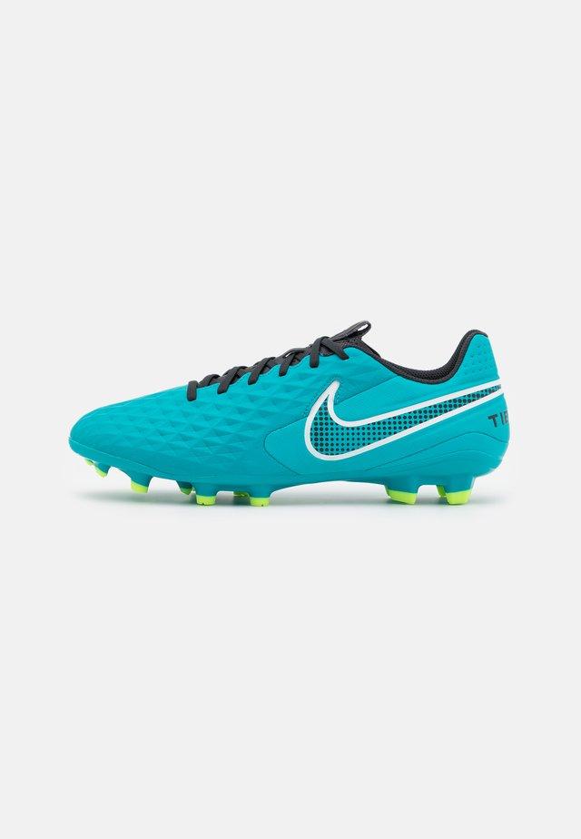 TIEMPO LEGEND 8 ACADEMY FG/MG - Voetbalschoenen met kunststof noppen - aquamarine/white/lime glow