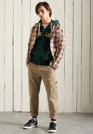 Sweater met rits - pine