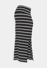 MAMALICIOUS - MLSIA SKIRT - Pencil skirt - black/snow white - 0