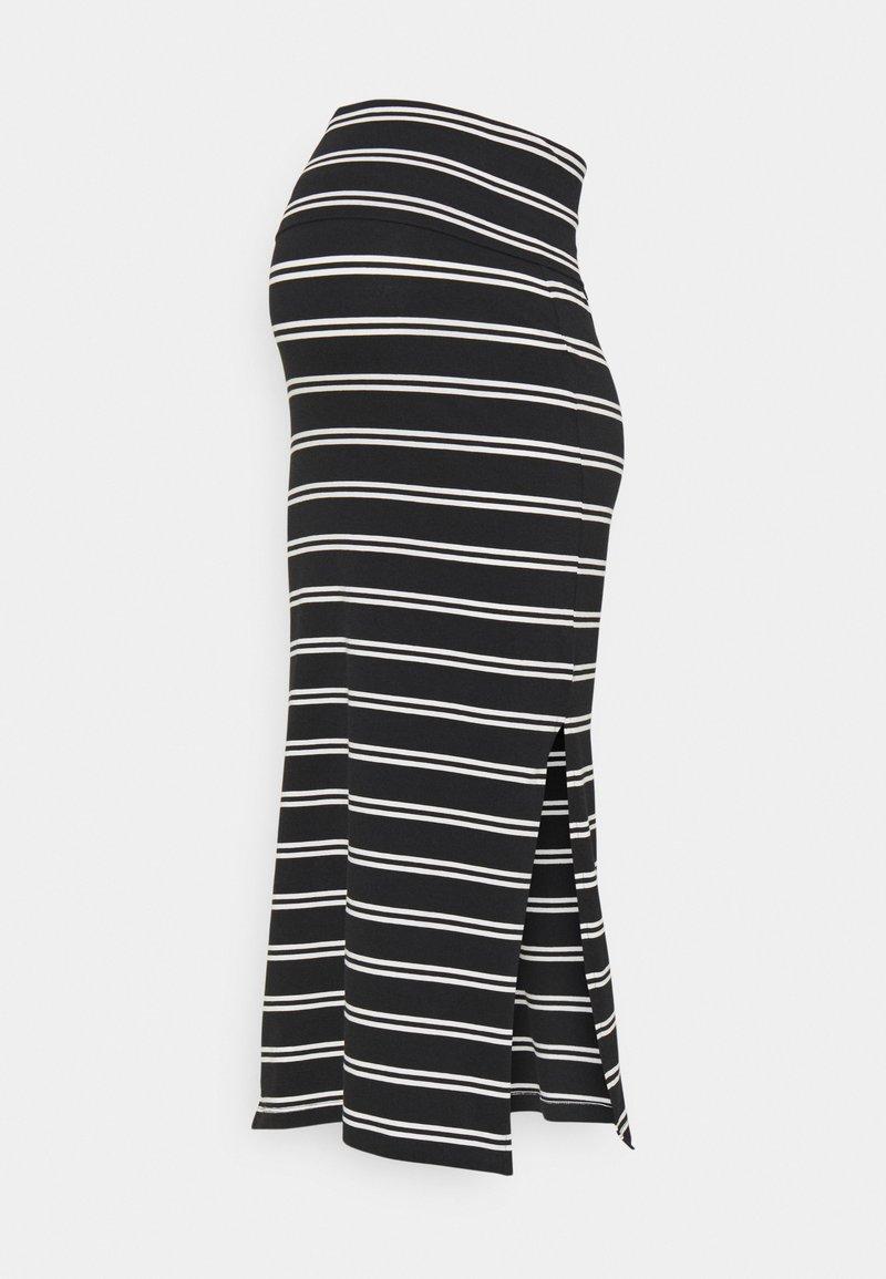MAMALICIOUS - MLSIA SKIRT - Pencil skirt - black/snow white