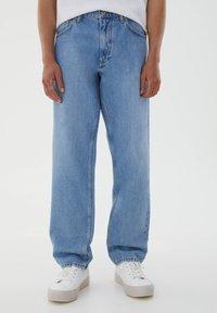 PULL&BEAR - Jeans straight leg - mottled blue - 0
