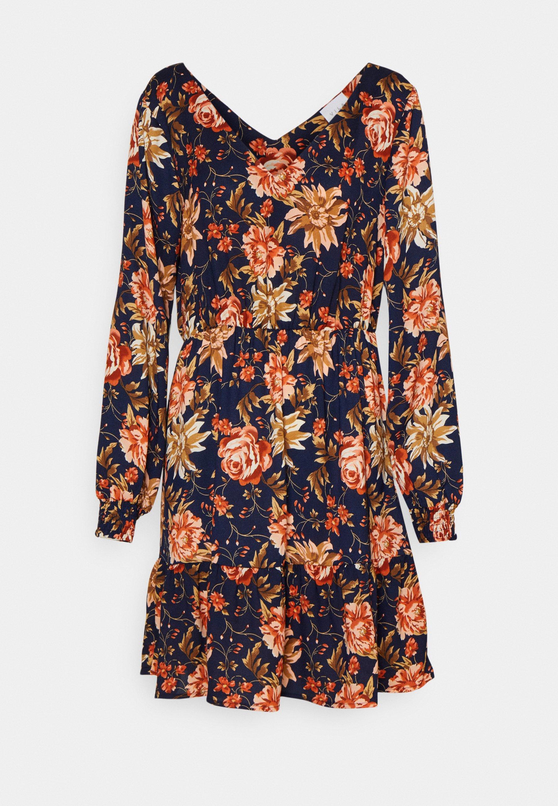 Women VIJOSE BLUME SHORT RUFFLE DRESS - Day dress