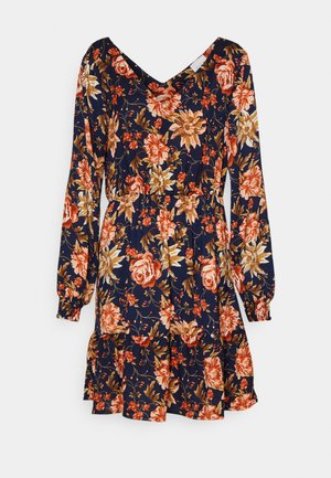 VIJOSE BLUME SHORT RUFFLE DRESS - Day dress - navy blazer