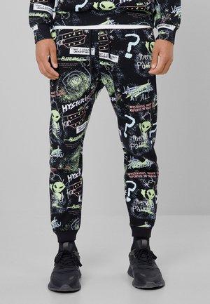 MIT ALIEN-PRINT  - Spodnie treningowe - black
