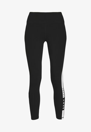 ESSENTIAL HIGH WAIST 7/8 KNOCKOUT LOGO LEGGING - Leggings - black