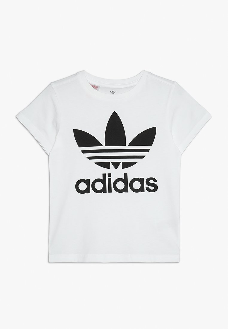 adidas Originals - TREFOIL - T-shirt print - white/black