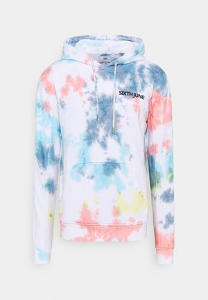 HEAVY TIE DYE HOODIE - Sweatshirt - white
