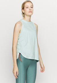 Under Armour - CHARGED TANK - Treningsskjorter - seaglass blue - 0