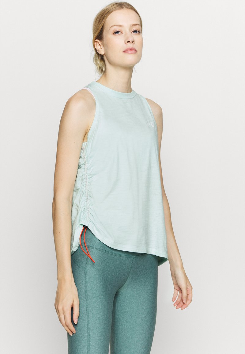 Under Armour - CHARGED TANK - Treningsskjorter - seaglass blue