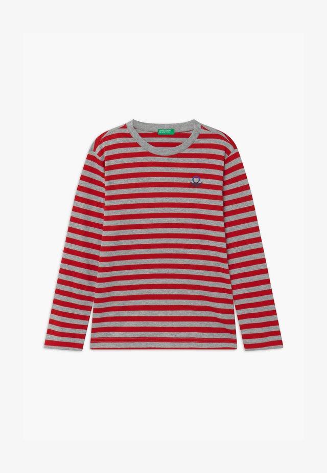 FUNZIONE BOY - T-shirt à manches longues - red/grey