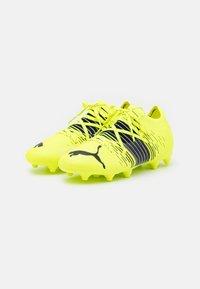 Puma - FUTURE Z 2.1 FG/AG JR UNISEX - Moulded stud football boots - yellow alert/black/white - 1