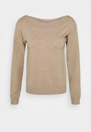 BASIC- boat neck jumper - Jumper - cuban sand