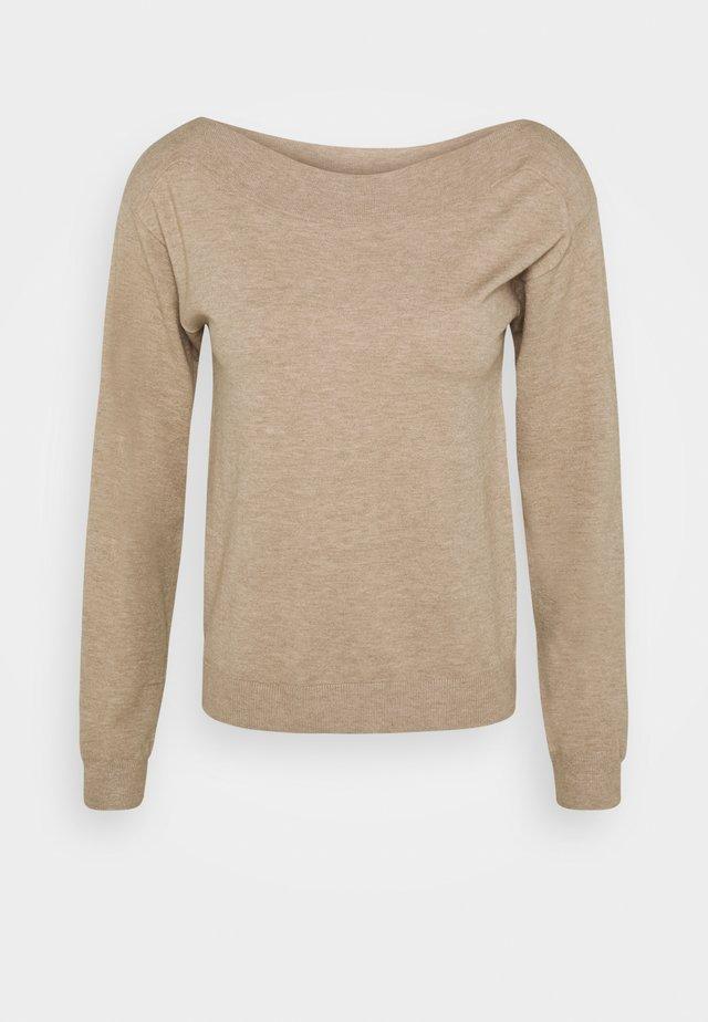 BASIC- boat neck jumper - Pullover - cuban sand