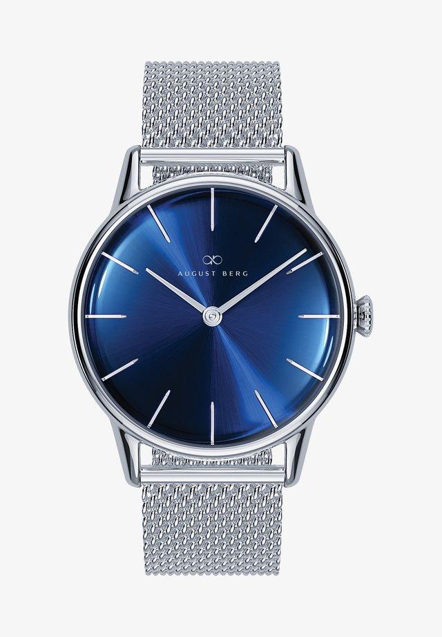 QUARZUHR SERENITY DEEP BLUE SILVER SILVER MESH 32MM - Horloge - sunray blue